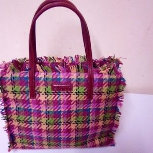 DKNY  wool plaid mini bag. NWOT